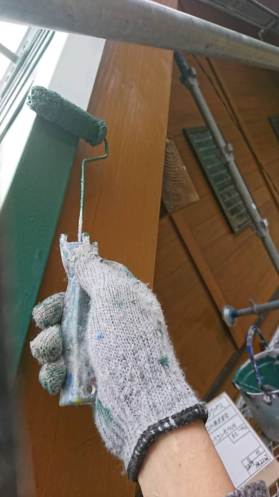 佐伯市宇目町 ログハウスの屋根板金塗装