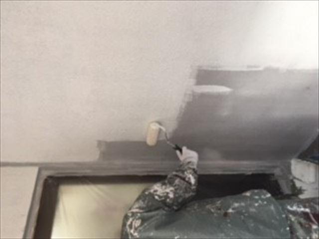外壁(壁)下塗り模様付け