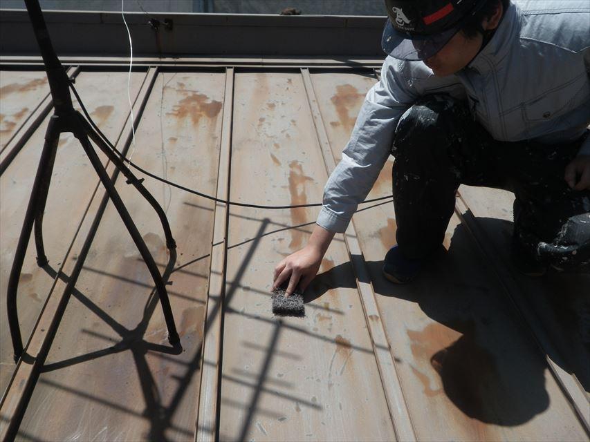屋根板金下地処理