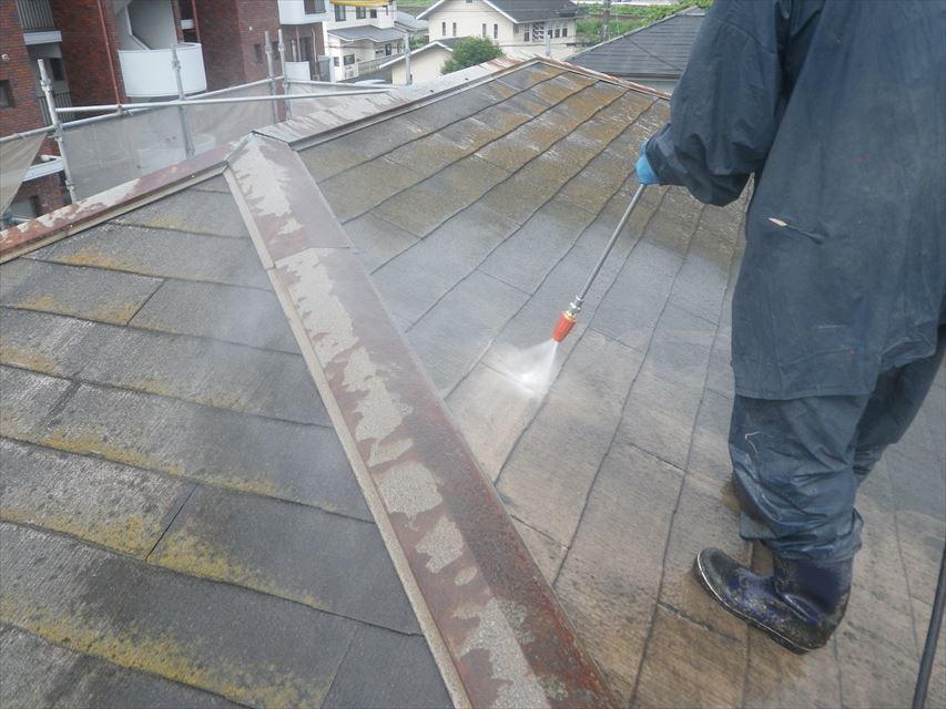 屋根高圧洗浄(水洗い)